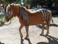 Podolski als Zebra